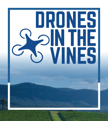 Drones in the vines Hunter Valley